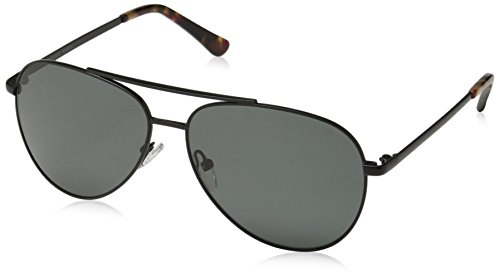 Obsidian Sunglasses for Women or Men Polarized Aviator Frame 01, Black, 58 mm