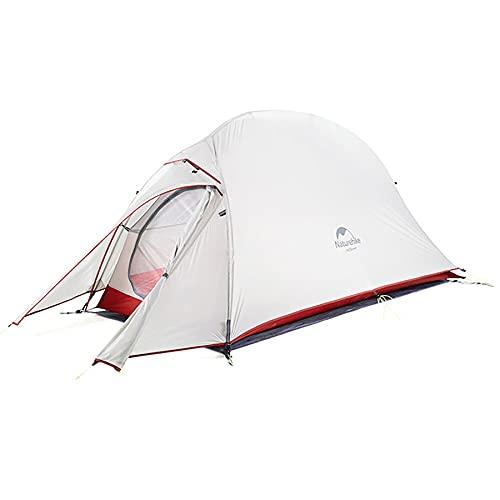 Naturehike テント 1 人用 アウトドア 二重層 超軽量 3シーズン 防風防水 4000 キャンピング プロフェッショナルテント CloudUp1アップグレード版(専用グランドシート付) (20Dグレー(YS2))