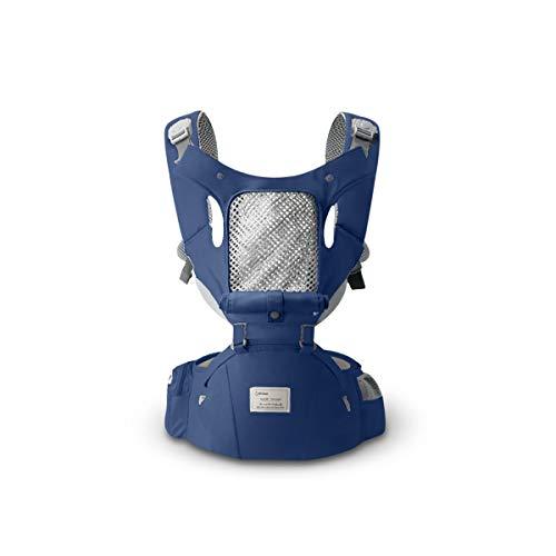 SONARIN 3 en 1 All Season porte-bébé Hipseat,Baby Carrier,Coupe-vent et Protection Solaire, Multifonction,Ergonomique,Taille Libre,Facile maman,100% GARANTIE et LIVRAISON GRATUITE, Idéal Cadeau(Bleu)