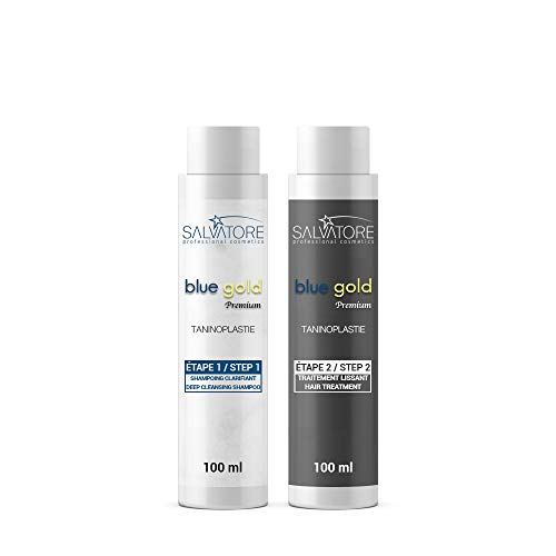 SALVATORE BLUE GOLD PREMIUM - LISSAGE AU TANIN (2 x 100 ml - 1 application)