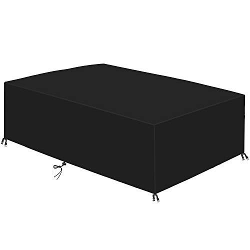 Dichlink Schutzabdeckung für Gartenmöbel, Abdeckplane für Gartenmöbel 420D Wasserdicht Atmungsaktiv Winddicht UV-beständig Möbeltisch und Stuhl schützen (170x94x70CM)