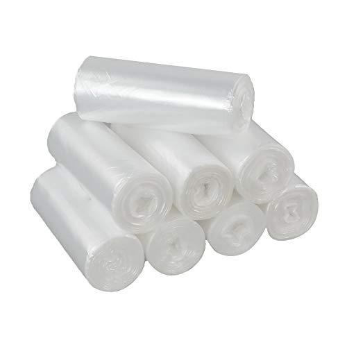 Dehouse Bolsas de basura transparentes de 20 L, Revestimientos de basura de 200 bolsas