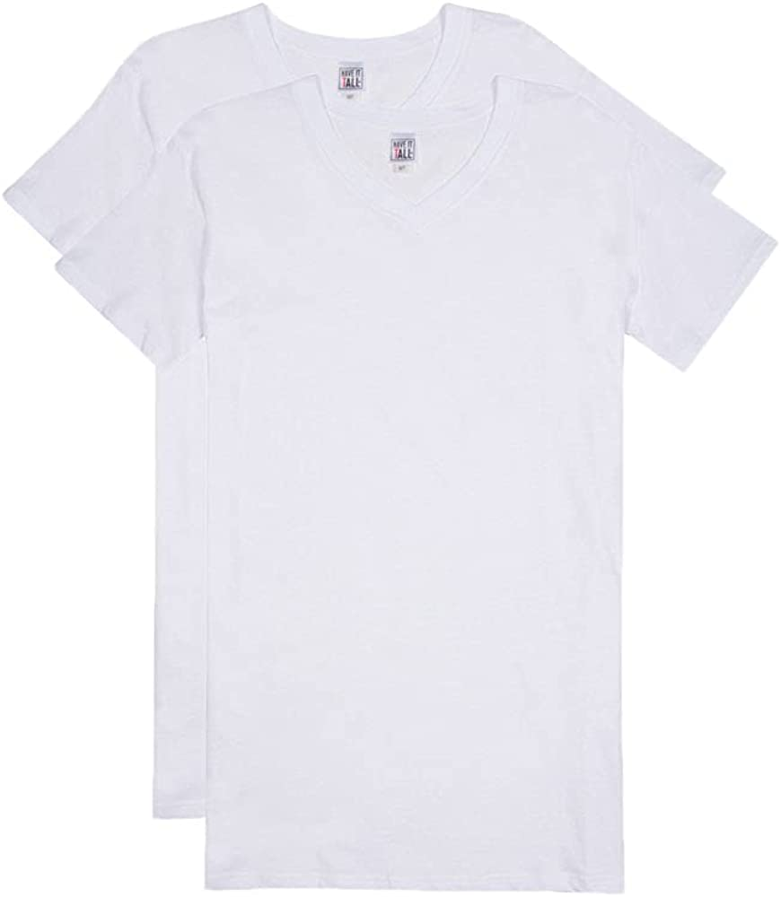 Have It Tall V Arlington Mall Neck Undershirts for 2 Men Ranking TOP15 Women Pack and