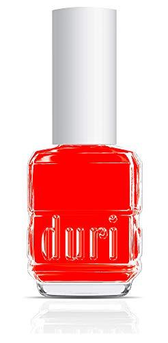 duri Nail Polish, 645N Windy City Roar, Neon Red, Matte, Opaque, 0.5 fl.oz.
