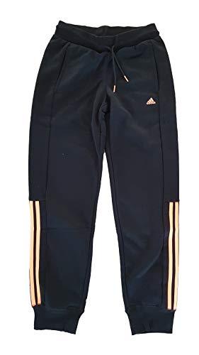 adidas Essentials Mid 3S 158 - Pantalón con cierre para hombre, color negro