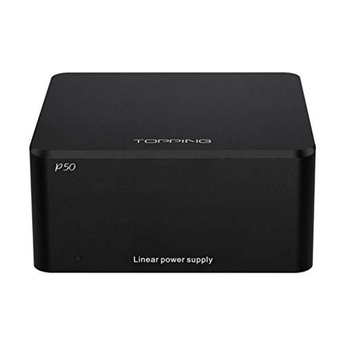 Topping P50 Lineares Netzteil HiFi Rauscharmer DC 5V/15V LPS-Netzteil Geregelte Stromversorgung für Topping D50/D50s/DX3 Pro/A50/A50s/E30 (Schwarz)