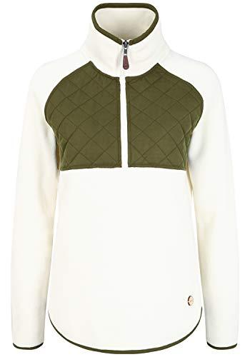 OXMO Malita Damen Fleecejacke Sweatjacke Jacke, Größe:XL, Farbe:Off White (114201)