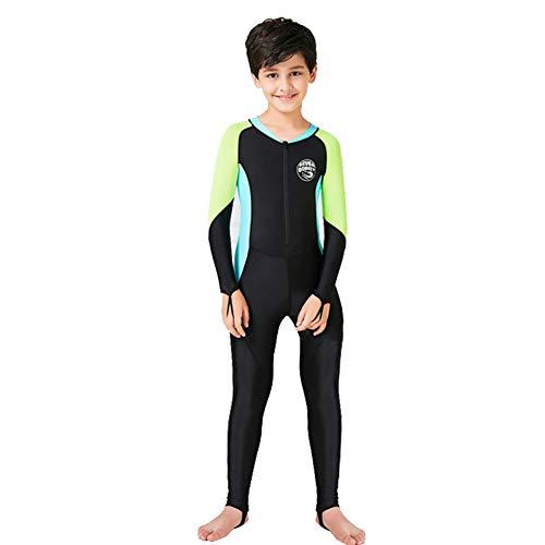 YFPICO Neoprenanzug Kinder Taucheranzug Ganzkörper Taucheranzug Surf Schwimmen Overall, Schwarz, 98/104