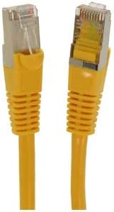 1Gigabit//Sec High Speed LAN Internet//Patch Cable GOWOS Cat5e Shielded Ethernet Cable 350MHz 10-Pack - 10 Feet Yellow 26AWG Network Cable with Gold Plated RJ45 Snagless//Molded//Booted Connector