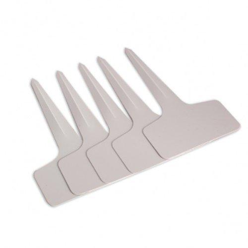"""G2Plus 100Stk. Mini T-Form Plastik Pflanzenstecker StecketikettenBeschriften Pflanzschilder Schilder 6CM * 10CM Sind Praktisch für Alle """"Gärtner"""" (Weiß) - 3"""