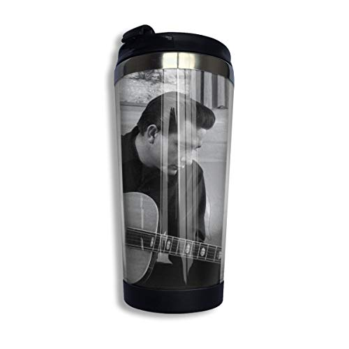 N/A NA Johnny-Cash Isolierte Kaffeebecher Auslaufsichere Kaffeetasse Für Kaffee Tee Und Bier Isolierter Reisebecher