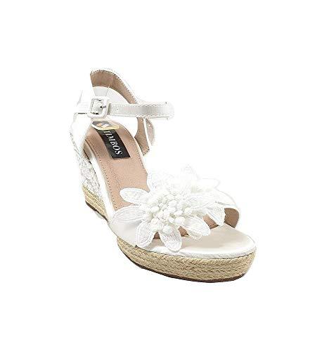 Timbos Zapatos - 121995 Cuña Novia Esparto, para Mujer, Color Blanco, Material...