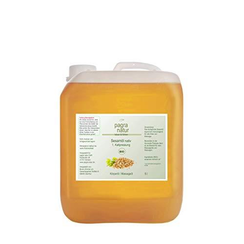 pagra natur Sesamöl bio nativ 1. Kaltpressung, 5l Kanister