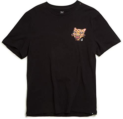 Volcom Camiseta OZZY Wright Collaboration Tiger Boxy Negro (M, Negro)