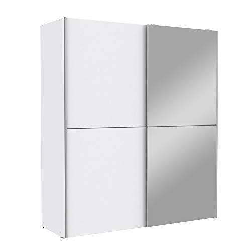 Wohnorama Schwebetürenschrank 170 cm White KISS von Forte Weiß by