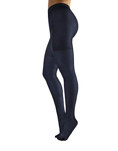 CALZITALY Collant Extra Large | Calze Opache Donna per Taglie Forti | Nero, Naturale | 60 DEN | Taglia 42-62 | Made in Italy (XL, Blu)