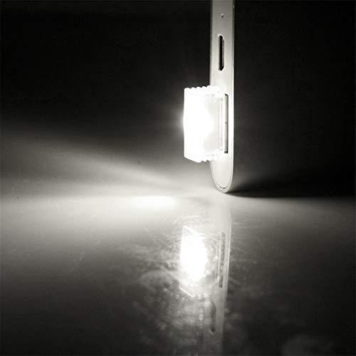 Mini USB del coche de la lámpara decorativa de la atmósfera LED de luces de emergencia del coche-styling 4pcs del coche Luces interiores ambiente de la lámpara Bombilla de seguridad