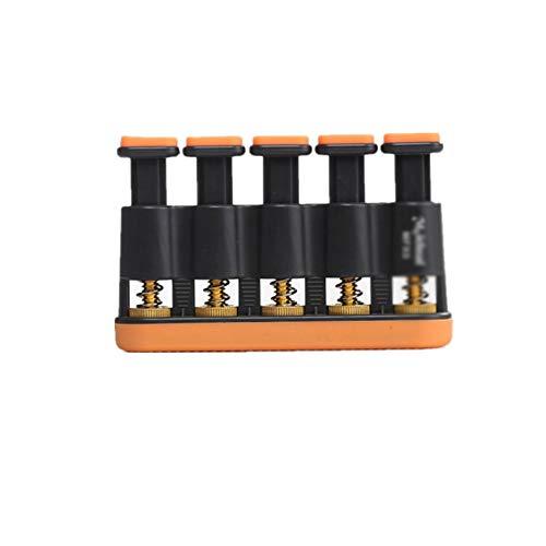 SHEHUIREN Gitarre Fingertrainingsgerät Fünf Schlüssel Spanning Praxis Einstellbare Stärke Klavier Fingerkraft Gerät,Orange