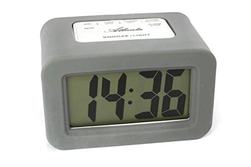 Atlanta 1971-4 - Reloj despertador digital con pantalla LCD, color gris