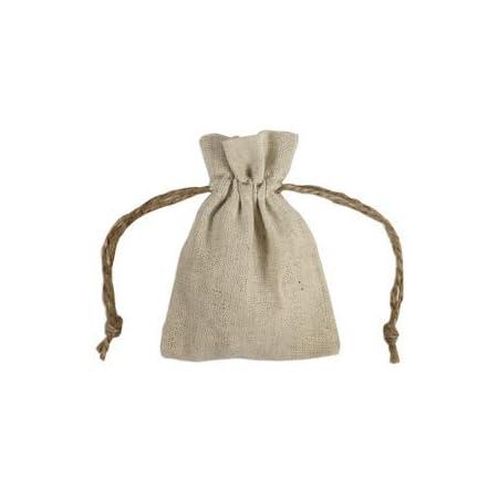 Wedding favor bags Light Beige Linen Gift bags optional sizes 100/% Natural Linen bags Small Linen Favor Bags