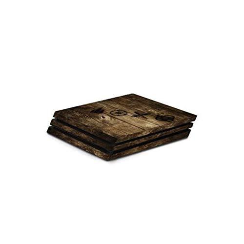 """Hama Design-Skin """"Wood"""" für PlayStation 4 PRO (Folien-Set in Holz-Optik für PS4 PRO Konsole und 2 Controller, rückstandslos entfernbar) Designfolie, Gehäuse-Aufkleber"""