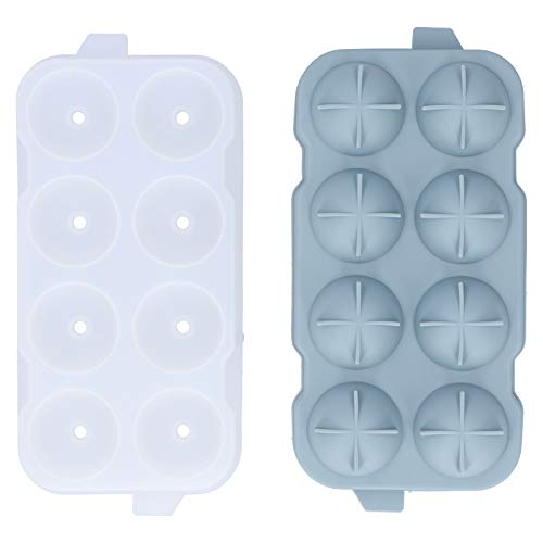 Asixxsix Accesorios Hechos a Mano Práctico Molde para Hacer Bolas de Hielo, 8 Orificios de Espesor para Hacer Bolas de Hielo Tienda de Bebidas para el hogar Bebidas refrigerantes