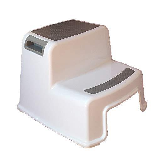 YNGJUEN Trittleiter, Umweltschutz PP-Kunststoff-Stuhl Kind Waschschritt Hilfstoilettensitz Hocker (Color : Gray)