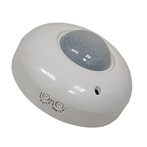 Sensor de Movimiento PIR, Detector Sensor de Movimiento de Superficie en techo 360º, Alcance 8m, AC 110-240V. Sensor de Infrarrojos