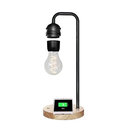 """Bombilla de levitación magnética, luz LED, luz de equilibrio de carga inalámbrica de 15 """", bombilla de inducción, lámpara de mesa de levitación magnética, luz nocturna para dormitorios, decoración"""