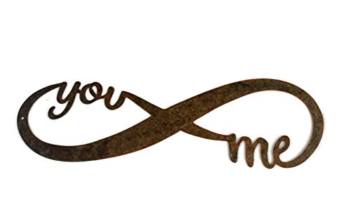 Infinity Naturally Rusted Steel Word Art 18 Inches