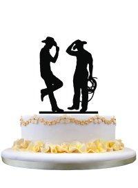Same Sex Wedding Gay Wedding Cake Topper Wedding Gift for Cowboys