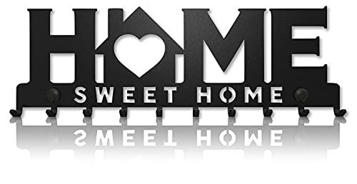 Home Sweet Home Portachiavi da Muro (10- Ganci) Decorativo, Ganci in Metallo per Porta d ingresso, Cucina, Garage | Organizza le Chiavi di Casa, Lavoro, Macchina, Veicoli | Arredamento Vintage