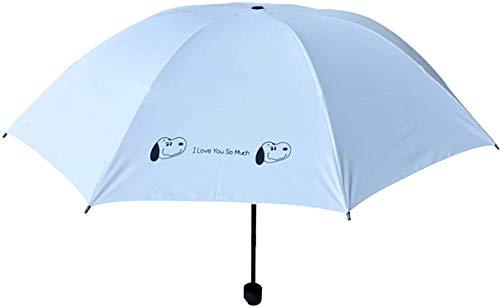Finex Peanuts Snoopy Regenschirm für Reisen, zusammenklappbar, kompakt, Blau