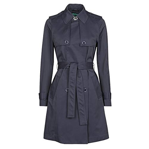 Benetton 2bim5k2s3 Mäntel Damen Marine - DE 38 (IT 44) - Trenchcoats Outerwear