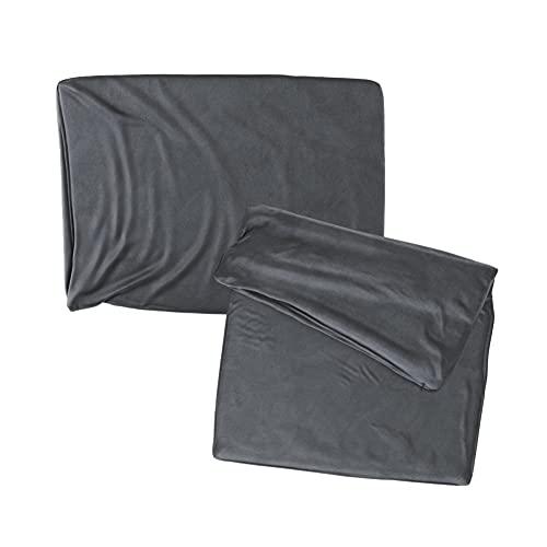 Cojines Sofa 35x50 Color Antracita Pack de 2 Fundas de cojin Decorativos para Sofa , Cama , Salon / Funda de Terciopelo Elegantes y Modernas para la decoración del hogar sin Relleno