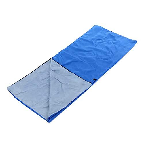 Saco de dormir 57 estaciones portátil al aire libre mini ultraligero saco de dormir azul 180 x 75 cm tipo sobre saco de dormir camping
