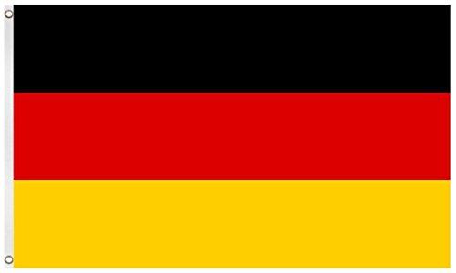 Blackshirt Company Deutschland Fahne Deutsche National Länder Flagge mit Ösen 150 x 90 cm Farbe Mehrfarbig