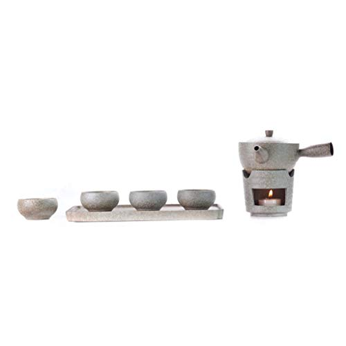 Teeservice Kung Fu Tee-Set Home Office Japanese Style Steingut Warmer Tee Herd Teetasse und Tee-Behälter-Set Teekanne Seitengriff Teekanne (Color : A)
