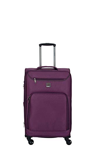 Saxoline Blue Alpine trolley koffer M aubergine, Dobby, medium