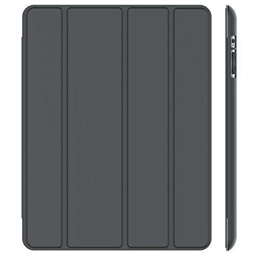 JETech Hülle Kompatibel iPad 4, iPad 3 und iPad 2, Schutzhülle mit Ständer Funktion und Auto Schlaf/Wachen, Grau