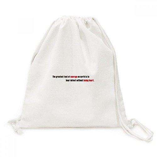 DIYthinker Zitat der größte Test Soll Defeat Canvas-Rucksack Reisen Shopping Taschen Bär