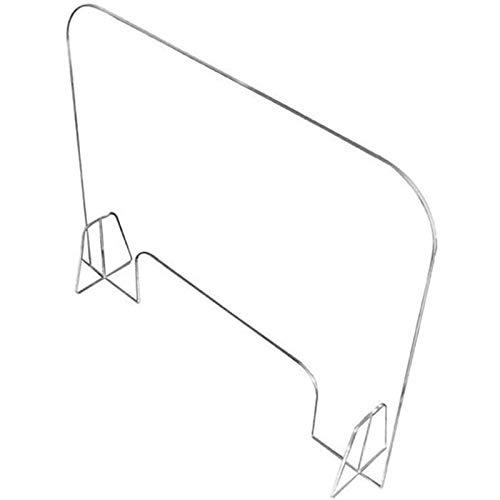 TTSTR Mamparas Proteccion Mostrador para Oficinas, Mampara Proteccion Protector Separador Transparente Pantalla Metacrilato Mostrador,3pcs,Plexiglass 60 * 90cm