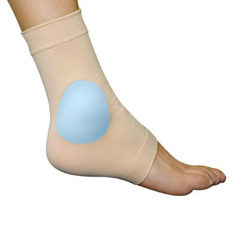 Medically Approved Elasticated Malleolar Sleeve With Gel Pads for Ankle Cushioning & Protection - Supplied to NHS Podiatry (Large/XL)