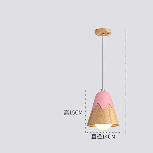 Macaron-Farbholzleuchter, kleiner Leuchter der Restaurantbar, kleiner Leuchter des kreativen Windglockenspiels@Pink