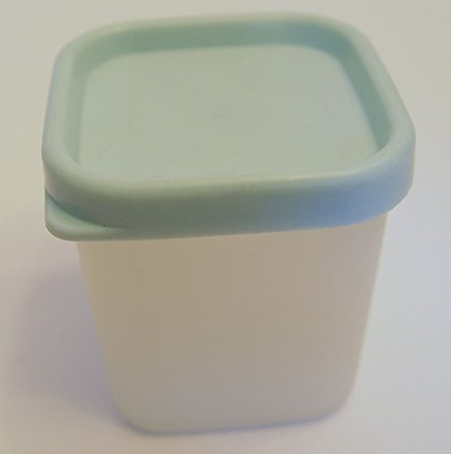 Vintage Tupperware Mini Fridge Mate Container with Mint Green Lid 1/3 Cup