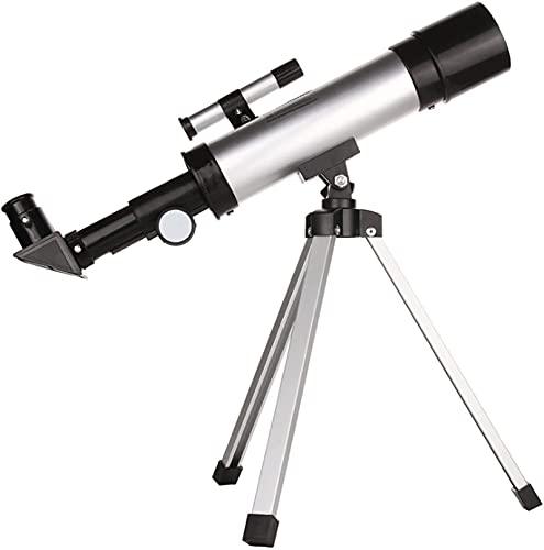 Telescopio astronómico profesional refractivo Telescopio de viaje portátil para niños y telescopio para principiantes con trípode, adaptador de teléfono móvil Vista Telescopio Astronómico Portátil