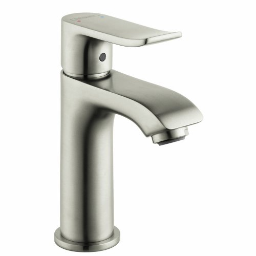Hansgrohe 31088 Metris 1.2 GPM Single Hole Bathroom Faucet with EcoRight - Brushed Nickel