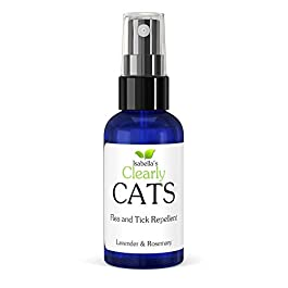 Isabella's Clearly CATS, Natural and Safe Tick and Flea Repellent, Non Toxic Proven Formula of Lavender and Rosemary Keeps Bugs Away Naturally. Topical Spray Smells Great. 60ml