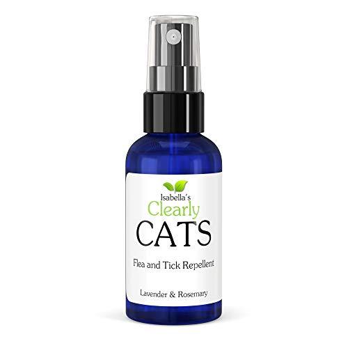 Clearly Cats, Repelente Natural y Seguro de Garrapatas y Pulgas. No Tóxico, Probada y Altamente Efectiva Fórmula de Lavanda y Romero.