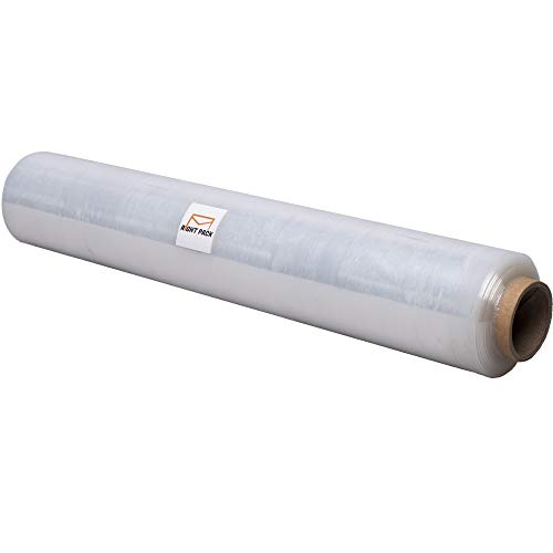 Strong Roll Clear Pallet Stretch Shrink Wrap Heavy Duty Cast Parcel Packing Plastic Cling Film for Moving House Furniture (400mm x 300m) Right Pack 17 Micron (1 x Roll)